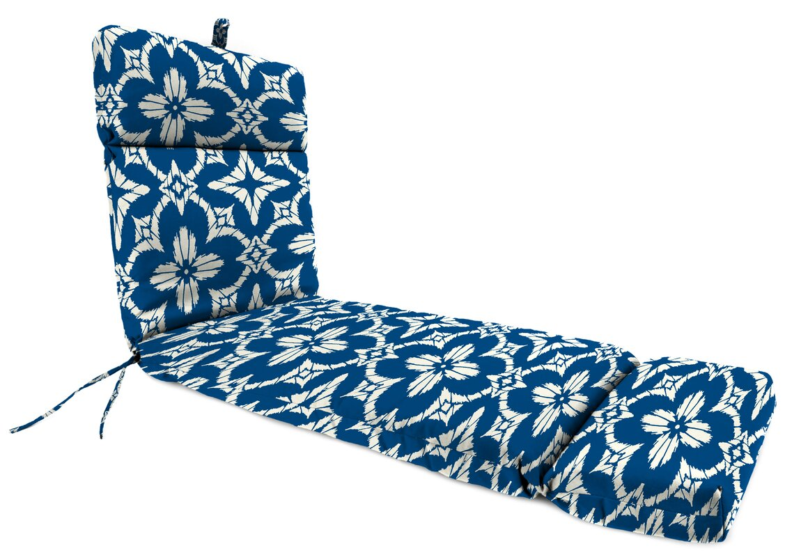 Alcott Hill Spun Polyester Outdoor Chaise Lounge Cushion & Reviews