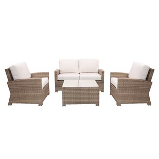 Norfolk 4 Piece Sunbrella Deep Seating Group with Cushions