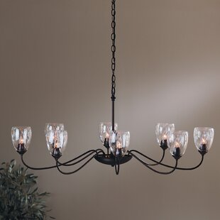 Hubbardton Forge 8-Light Shaded Chandelier