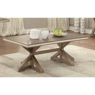 Krajewski Metal Banded Wooden Rectangular 3 Piece Coffee Table Set