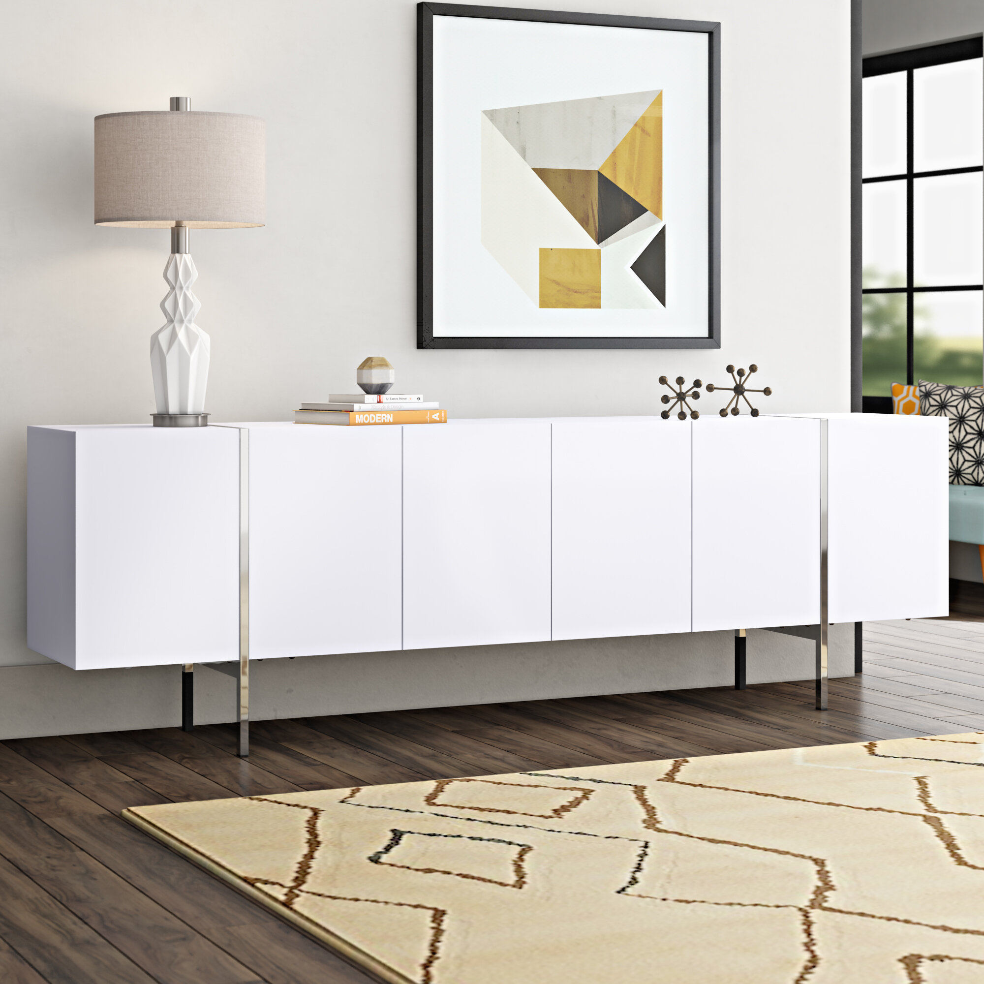 Picture of: Wade Logan Jesiah Large Buffet Table Reviews