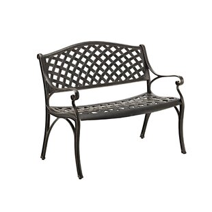 Walker Edison Cast Aluminum Garden Bench