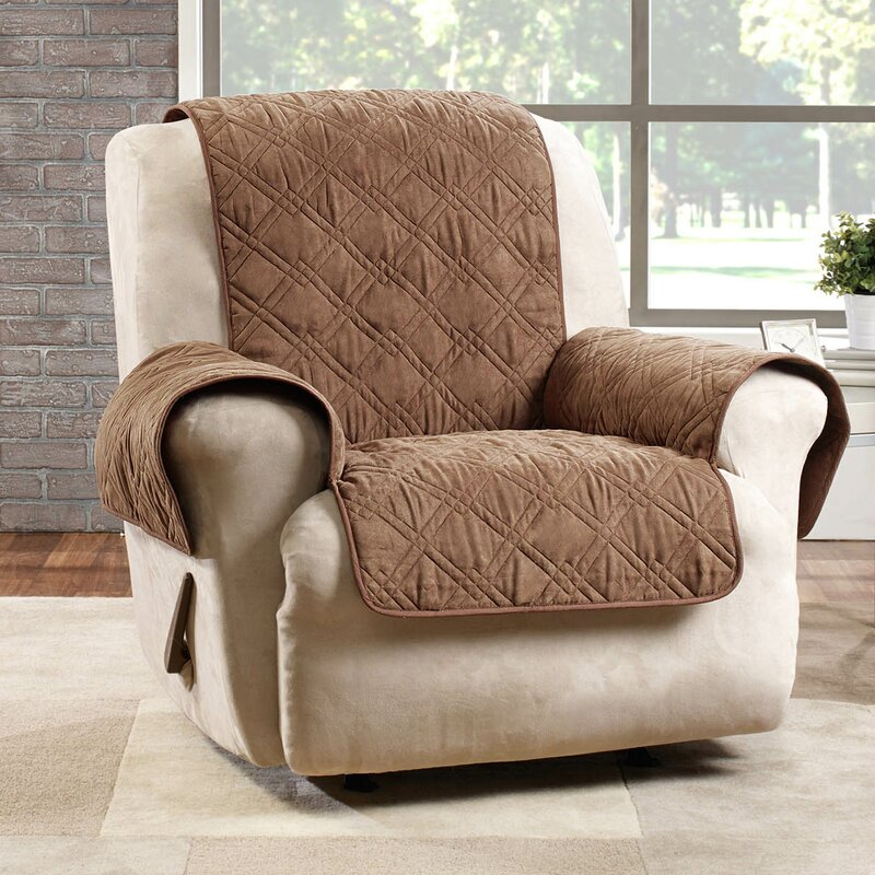 Deluxe Box Cushion Recliner Slipcover & Sure Fit Deluxe Box Cushion Recliner Slipcover \u0026 Reviews | Wayfair islam-shia.org