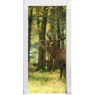 Discount Deer In The Forest Door Sticker