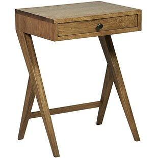 Peter End Table with Storage by Noir