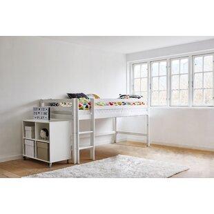 Standard European Single Mid Sleeper Bed With Bookcase By Hoppekids