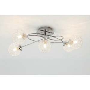 wire 5 light semiflush ceiling light