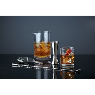 4 Piece Professional Mixologist Bar Tool Set