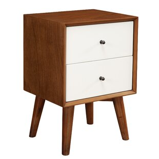 Horowitz 2 Drawer Nightstand by George Oliver