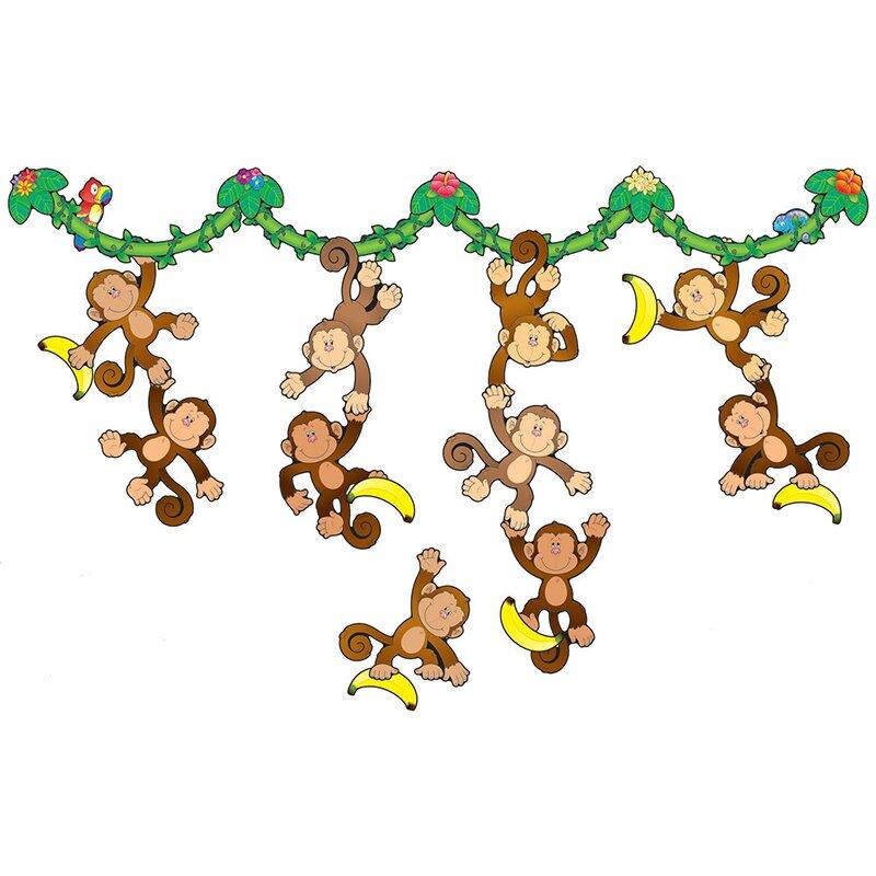 Monkey Bulletin Board Cut Out Set