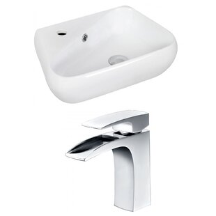 Ceramic 17.5 Bathroom Sink with Faucet and Overflow by Royal Purple Bath Kitchen