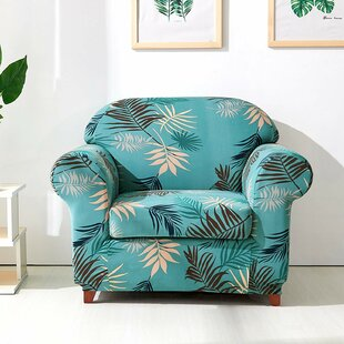 Leaves Printed Stretch Chair Slipcover