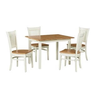 Shipe 5 Piece Extendable Solid Wood Dining Set August Grove