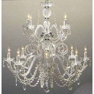 Astoria Grand Alyce 12-Light Candle Style Chandelier