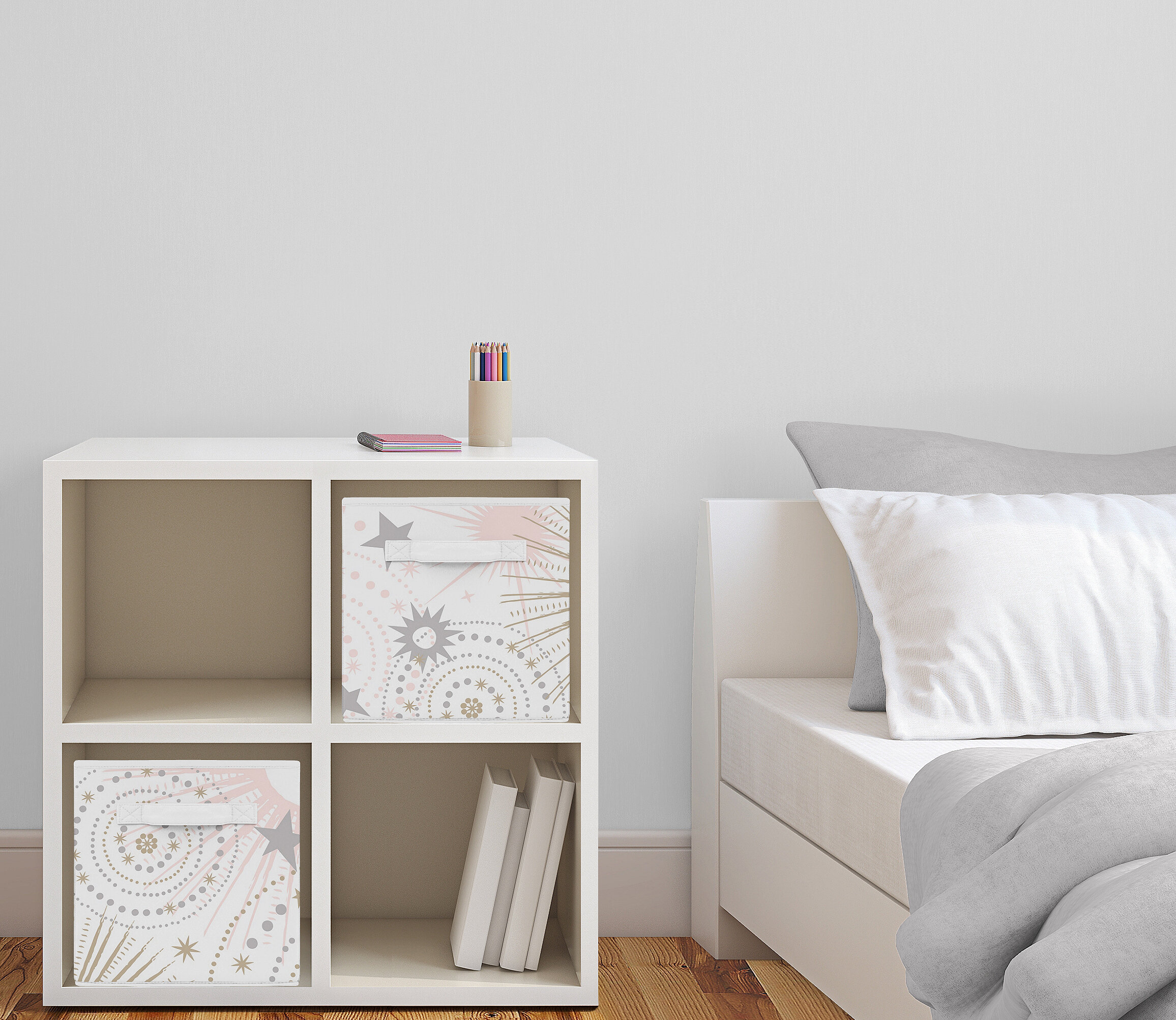 Sweet Jojo Designs Celestial Fabric Storage Bin Reviews Wayfair