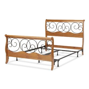 Wood and Metal Sleigh Bed by Fashion B..