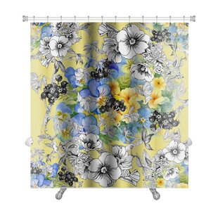Best Price Kilo Floral Premium Shower Curtain By Gear New