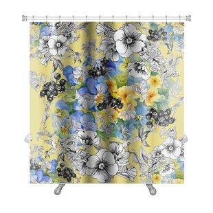 Kilo Floral Premium Single Shower Curtain