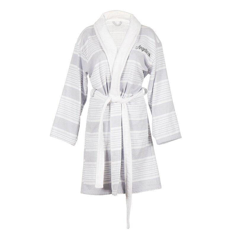 Cathys Concepts Personalized 100% Cotton Turkish Terry Cloth Bathrobe  6767887ea