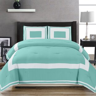 Eason Down Alternative Block Pattern Comforter Set