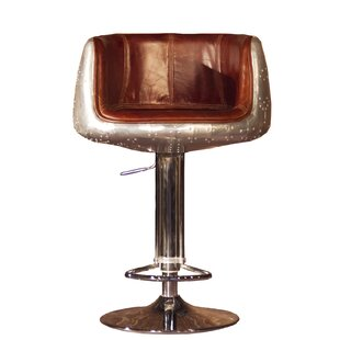Kolby Height Adjustable Bar Stool By Williston Forge