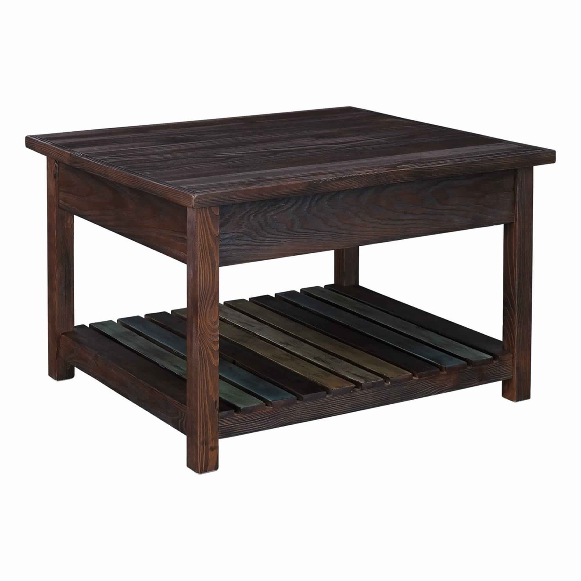 Loon Peak Signorelli Lift Top Floor Shelf Coffee Table With Storage Wayfair