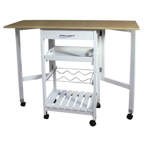 Kitchen Trolley Bar Cart with Drop Down L..