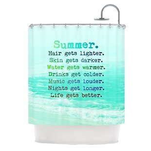 Summer XXL Single Shower Curtain