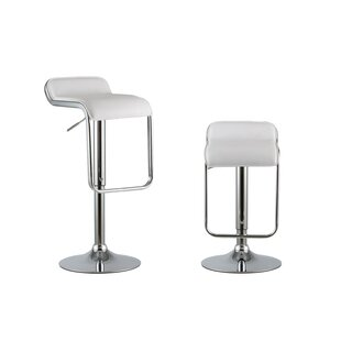 2 Piece Adjustable Height Swivel Bar Stool Set