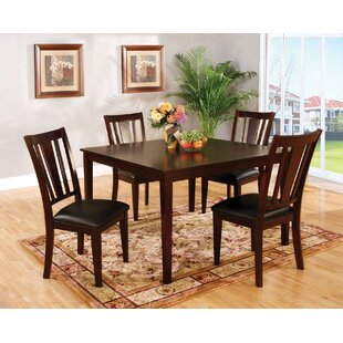 Voyles 5 Piece Solid Wood Dining Set Red Barrel Studio