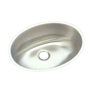 Lustertone Metal Oval Undermount Bathroom Sink with Overflow Elkay