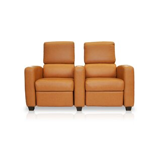 Deco Penthouse Leather Home Theater Row Seating Row of 2 by Bass