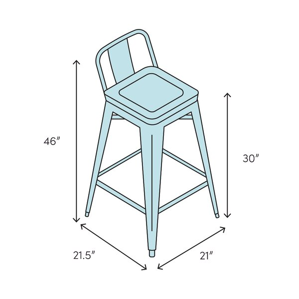 Brayden Studio Bui 30 Bar Stool Wayfair