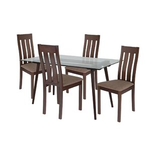 Kaleb 5 Piece Dining Set by Ebern Designs