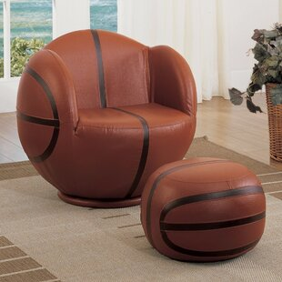 Knopf Kids Chair and Ottoman by Zoomie Kids