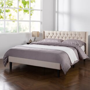 Rothbury Wingback Upholstered Platform Bed by Wrought Studio