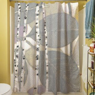 Birch Leaf II Single Shower Curtain