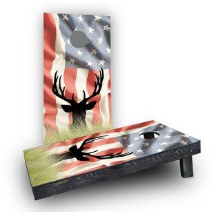 Custom Cornhole Boards Faded American Elk Cornhole Boards (Set of 2)