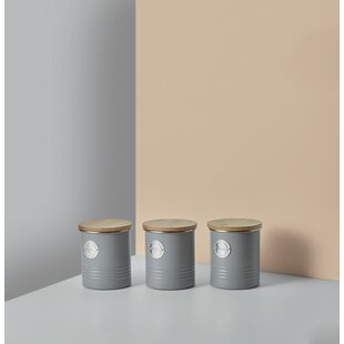 Living 3 Piece Coffee Tea Sugar Jar Set
