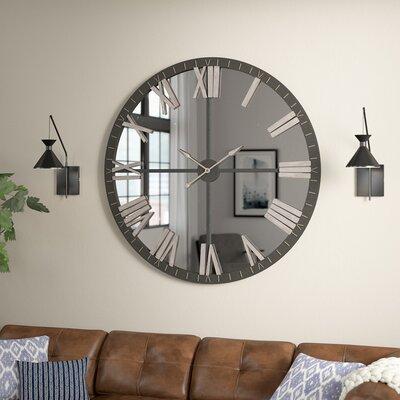 Silver Amp Chrome Wall Clocks You Ll Love In 2020 Wayfair