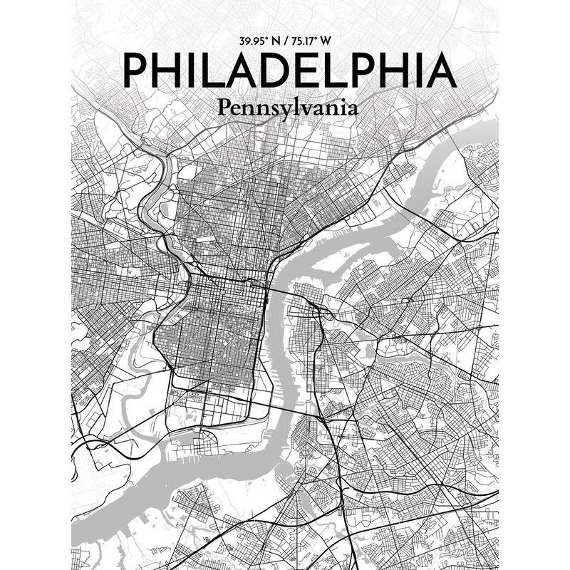 Ourposter philadelphia city map graphic art print poster in philadelphia city map graphic art print poster in tones freerunsca Gallery