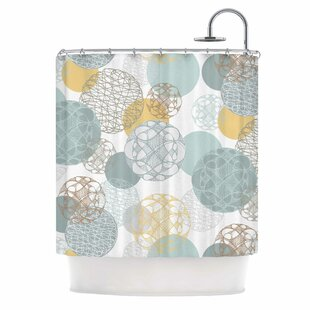 Floating Circles by Maike Thoma Single Shower Curtain