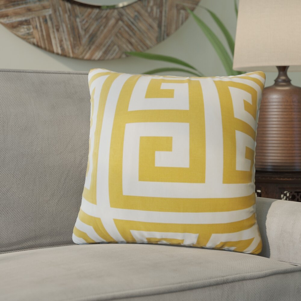 Bloomsbury Market Unionville Geometric Down Filled 100 Cotton Throw Pillow Wayfair