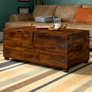 Mapleton Trunk Coffee Table with Lift Top Loon Peak