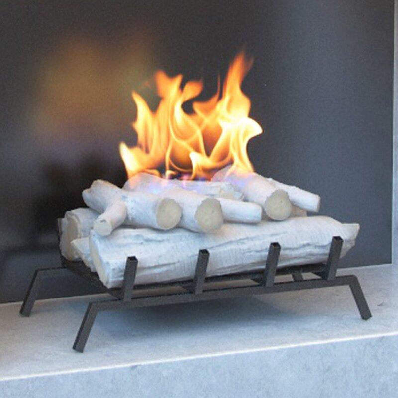 regal flame 18 birch ethanol fireplace grate log set with burner rh miligui at