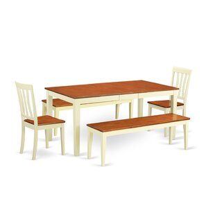 Cleobury 5 Piece Extendable Solid Wood Dining Set