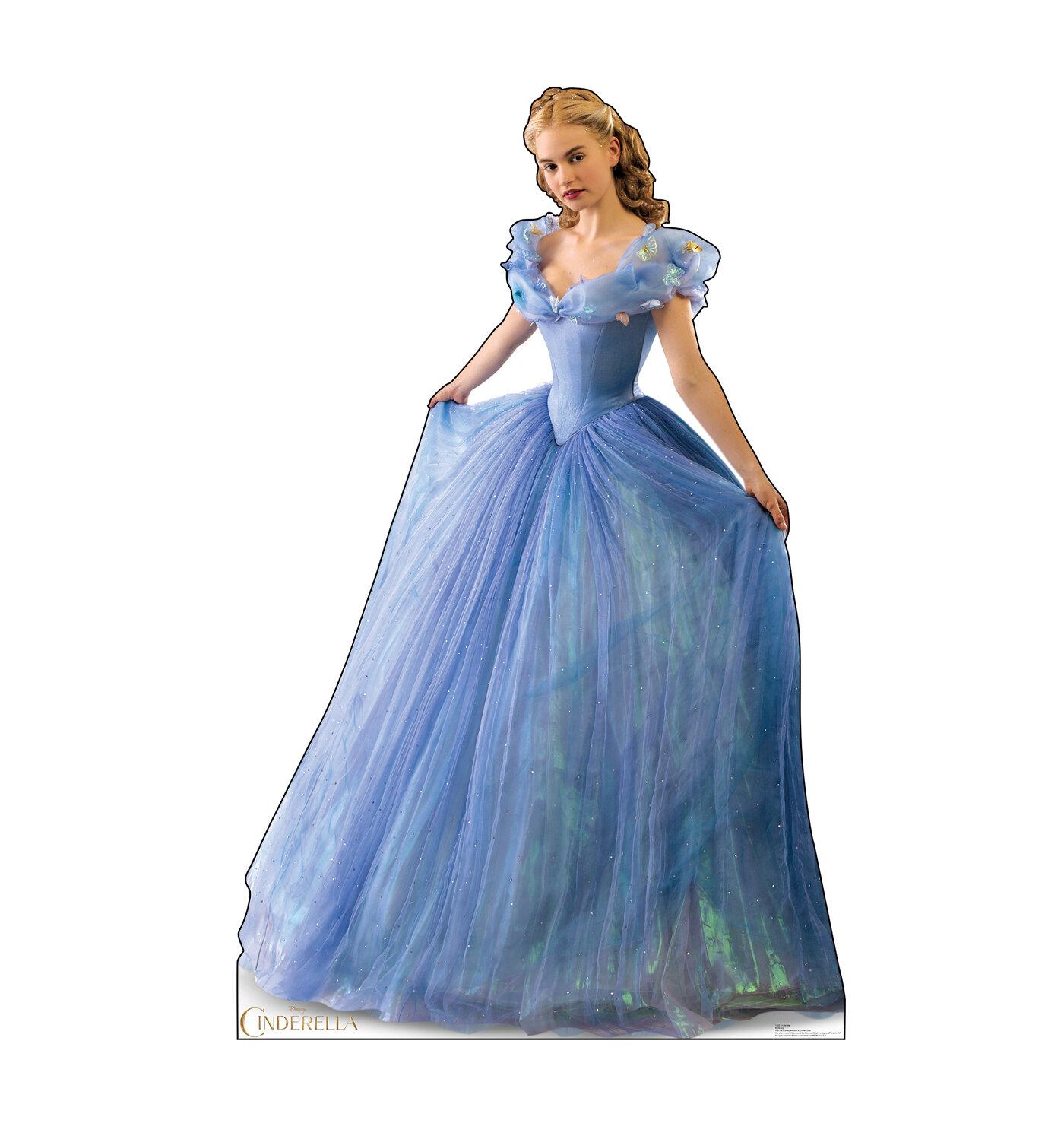 cinderella 2015 cinderella ball gown cardboard standup Little Mermaid
