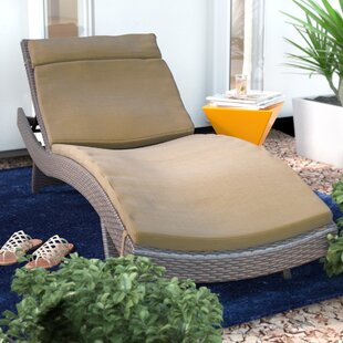 Christian Down Indoor/Outdoor Chaise Lounge Cushion (Set of 2)
