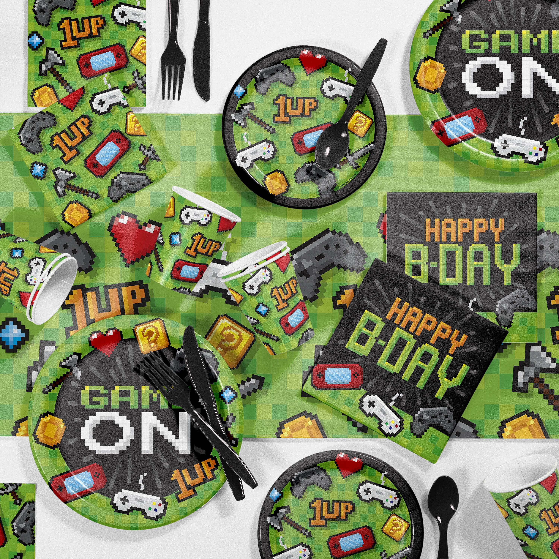 Mckenzie Video Game Birthday Paper/Plastic Party Supplies Kit