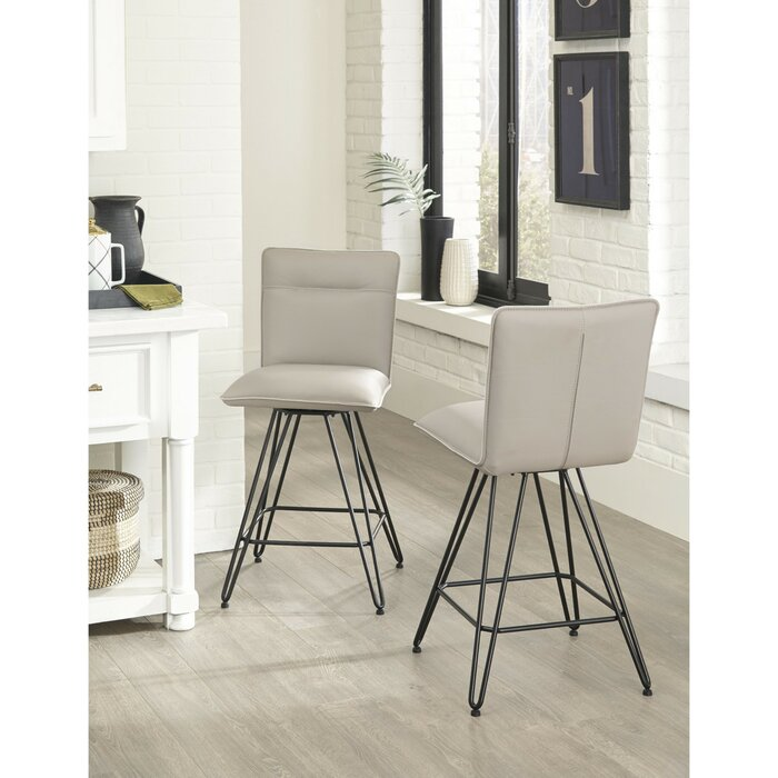 Peachy Orting Metal Counter Height Bar Stool Inzonedesignstudio Interior Chair Design Inzonedesignstudiocom